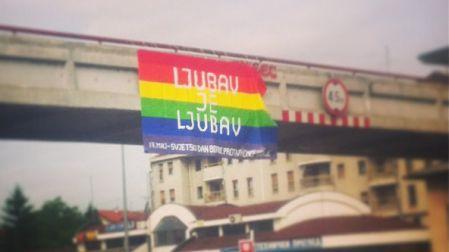 Transparent u Banja Luci u znak podrške LGBT zajednici u Hrvatskoj  (Foto: Facebook)
