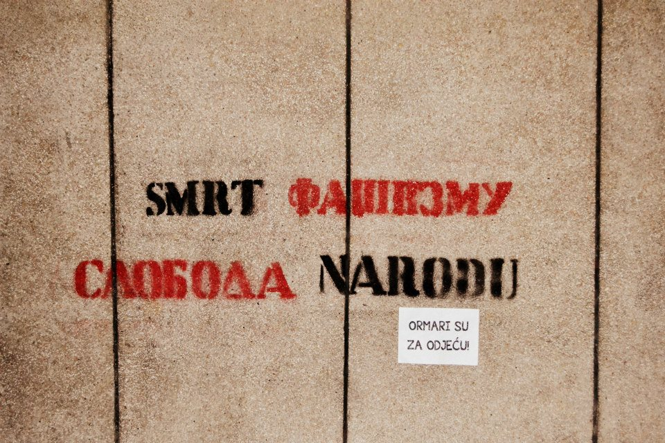 Grafiti u Banja Luci povodom obilježavanja Međunarodnog dana ljudskih prava Foto: Facebook