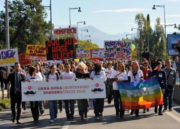 Parada ponosa u Crnoj Gori Foto: Depo.ba