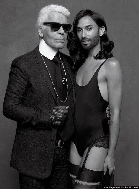 Conchita Wurst i Karl Lagerfeld