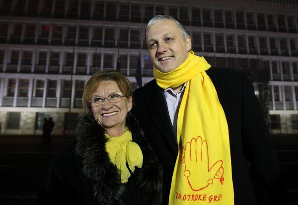 Referendum o izenačitvi pravic vseh parov Metka Zevnik in Aleš Primc Ljubljana 20.12.2015 [referendum,družina]